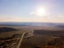 Beautiful orange Bryce canyon Flying through the mountains. Stock Photos