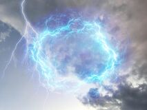 Breathtaking blue energy, thunder and clouds in the sky, photographed in Bloemfontein, South Africa