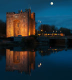 Breathtaking bunratty castle in ireland at night Stock Photos