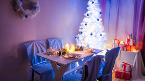 Breathtaking Christmas table setting Stock Photography