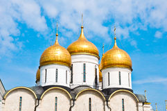 Breathtaking Famous The Annunciation Cathedral in Moscow Kremlin, Russia Royalty Free Stock Photography