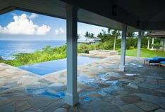 Breathtaking Hawaiian Ocean View Deck Royalty Free Stock Photo