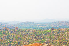 Breathtaking and huge Hampi  UNESCO World Heritage Site Karnatak Royalty Free Stock Photos