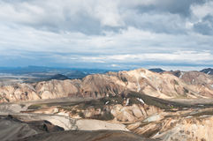Breathtaking Landmannalaugar mountains, Iceland Stock Photo