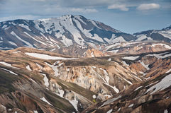 Breathtaking Landmannalaugar mountains, Iceland Royalty Free Stock Photography