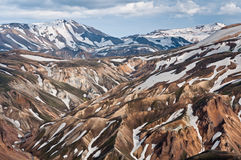 Breathtaking Landmannalaugar mountains, Iceland Stock Photos