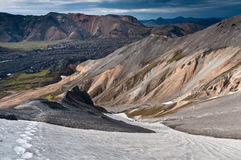 Breathtaking Landmannalaugar mountains, Iceland Stock Photo
