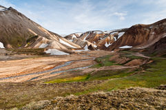 Breathtaking Landmannalaugar mountains, Iceland Royalty Free Stock Photos