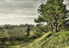 Breathtaking landscapes of Belarus - view vilage Stock Photography