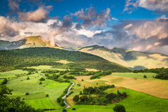 Breathtaking mountain view in Umbria Stock Image