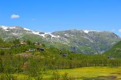 Breathtaking Norwescy fjord i góry krajobrazy Obraz Royalty Free