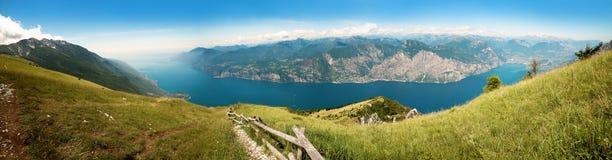 Breathtaking outlook from the top of monte baldo mountain, italy Stock Photo