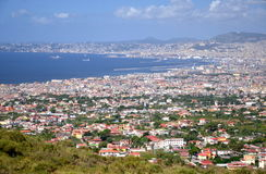 Breathtaking picturesque landscape of Naples and Gulf of Naples, Italy Stock Images
