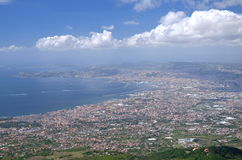 Breathtaking picturesque landscape of Naples and Gulf of Naples, Italy Stock Photography