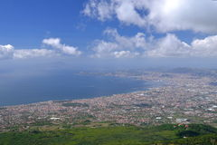 Breathtaking picturesque landscape of Naples and Gulf of Naples, Italy Stock Photo