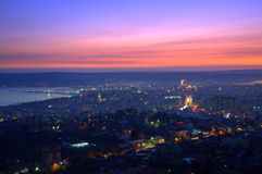 Colorful Varna city skyline  Royalty Free Stock Photo