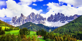 Breathtaking scenery of Dolomites mountains. beauty in nature. N Royalty Free Stock Images