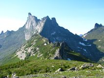 Breathtaking scenery of the mountains stock photography