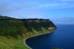 Breathtaking Sea Cliffs at Bearreraig Bay. Beautiful Bearreraig bay sea cliffs towering over the bay Stock Photos