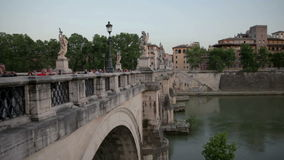 Breathtaking shot of Tiber river in Rome, Italy stock footage