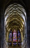St. Vitus Cathedral situated entirely within the Prague Castle complex Royalty Free Stock Image