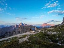 Capella degli Alpini, Dolomites, Italy stock images