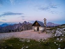 Capella degli Alpini, Dolomites, Italy royalty free stock images