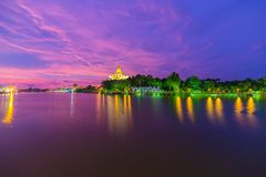 Breathtaking sunset in Kuching, Malaysian Borneo Royalty Free Stock Photo