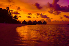 Breathtaking sunset in the Maldives royalty free stock image