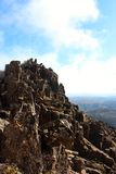 Breathtaking from the top of cradle mountain. In Tasmania Australia royalty free stock images