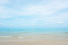 Breathtaking turquoise sea, Exotic beach with gentle wave and clear beach Stock Photos