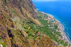 Breathtaking view from the cliff on Madalena do Mar, Madeira Stock Photography
