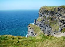 Breathtaking view from Cliffs of Moher Ireland stock photography
