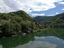 Breathtaking view. Of Drina in BiH Stock Photos