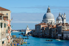 Breathtaking view of the Grand Canal and Basilica. Stock Image