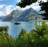 Breathtaking view. View from Iseo Lake royalty free stock photo