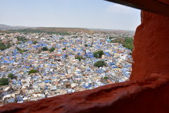 Breathtaking view of Jodhpur blue city from Mehrangarh Fort, Rajasthan, India Royalty Free Stock Photos