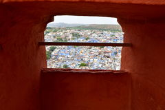Breathtaking view of Jodhpur blue city from Mehrangarh Fort, Rajasthan, India Royalty Free Stock Photo