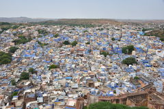 Breathtaking view of Jodhpur blue city from Mehrangarh Fort, Rajasthan, India Royalty Free Stock Images