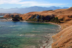Breathtaking view of Kaikoura, New Zealand. Breathtaking view of a beach in Kaikoura, New Zealand royalty free stock image