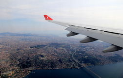Breathtaking view looking out of jet,over Istanbul,Turkey,2016 Stock Photography