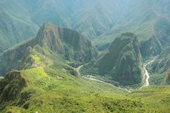 Breathtaking view from Machu Picchu mountain. Stock Photography