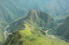 Breathtaking view from Machu Picchu mountain. Royalty Free Stock Photography