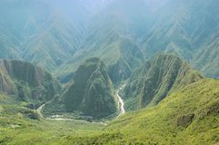 Breathtaking view from Machu Picchu mountain. Stock Images