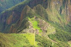 Breathtaking view from Machu Picchu mountain. Stock Photo