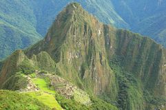 Breathtaking view from Machu Picchu mountain. Royalty Free Stock Photos