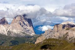 Breathtaking view from Marmolada mountain Stock Photo