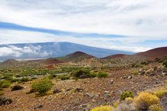 Breathtaking view of Mauna Loa volcano on the Big Island of Hawaii. The largest subaerial volcano in both mass and volume, Mauna Loa has been considered the Royalty Free Stock Photography