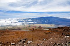Breathtaking view of Mauna Loa volcano on the Big Island of Hawaii. The largest subaerial volcano in both mass and volume, Mauna Loa has been considered the Royalty Free Stock Images