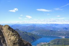 Breathtaking view from Monte Generoso royalty free stock images